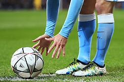 *Caption correction* David Silva of Manchester City places the ball for a corner - Mandatory byline: Matt McNulty/JMP - 07966386802 - 12/04/2016 - FOOTBALL - Etihad Stadium -Manchester,England - Manchester City v Paris Saint-Germain - UEFA Champions League - Quarter Final Second Leg