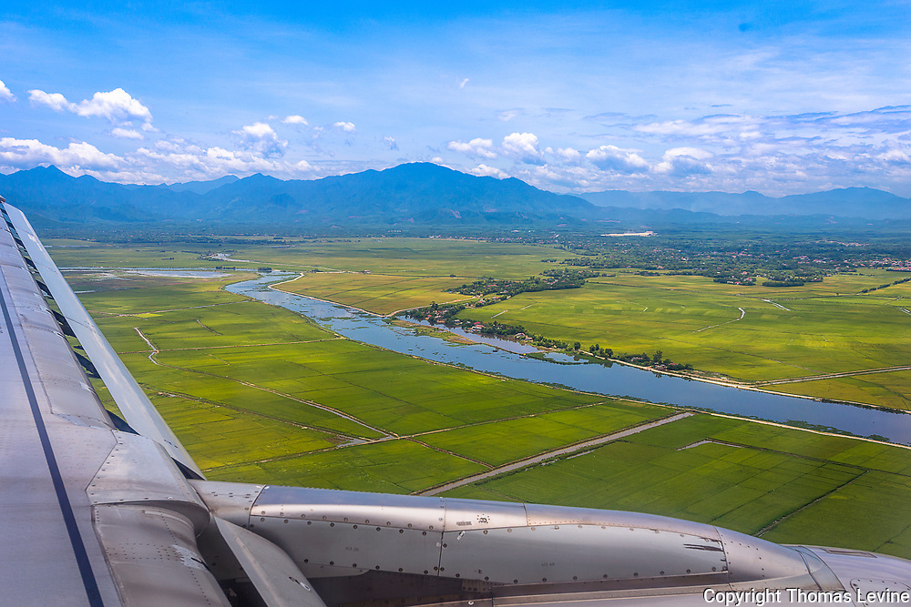 In the air close to Hue, Vietnam