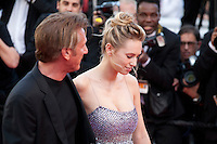 Sean Penn and Dylan Penn, at the gala screening for the film The Last Face at the 69th Cannes Film Festival, Friday 20th May 2016, Cannes, France. Photography: Doreen Kennedy