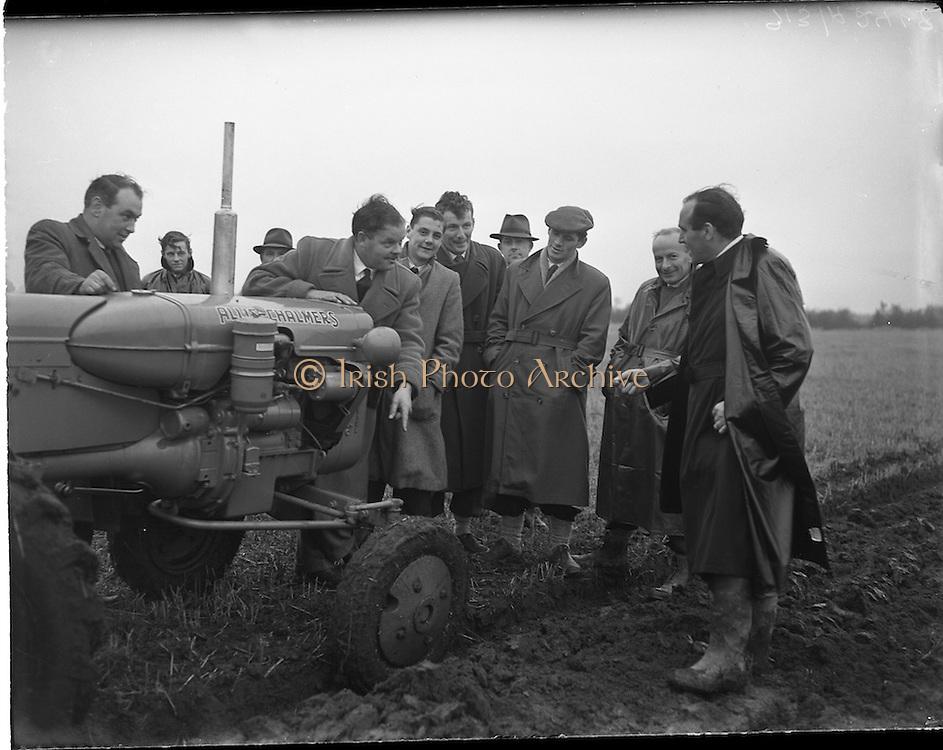 03/11/1955.11/03/1955.03 November 1955.Tractor Demonstration Allis-Chalmers D-270 at Collinstown, Cloghran Co. Dublin.