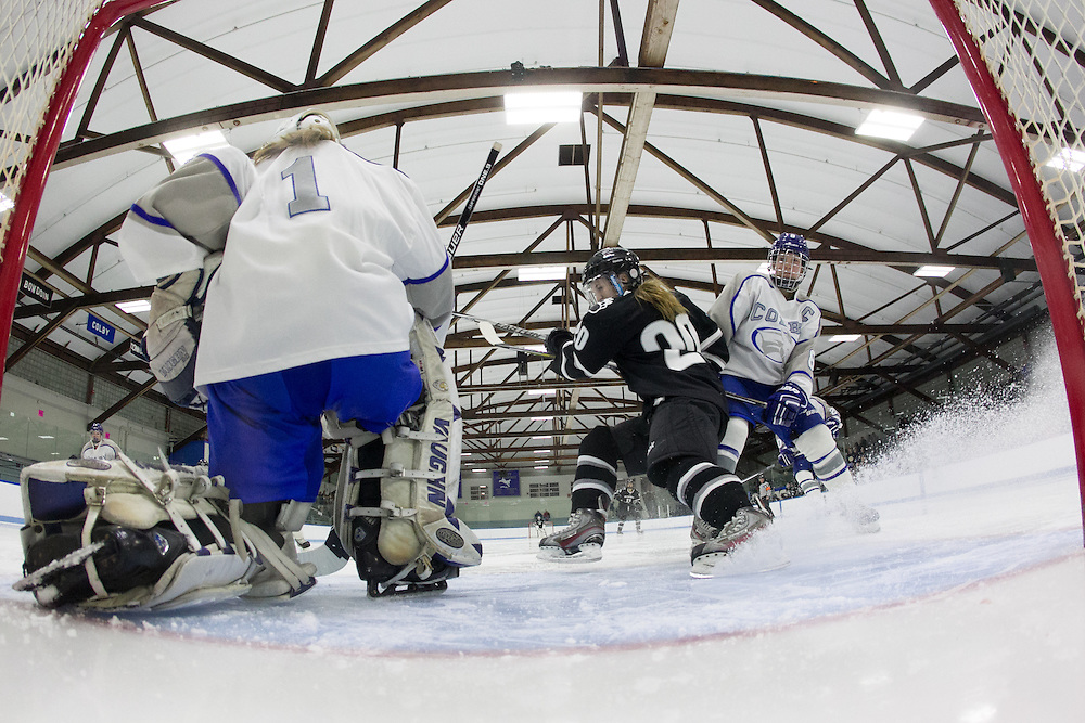 Jessica Thulin, of Colby College, in a NCAA Division III hockey game against Bowdoin College on November 21, 2014 in Waterville, ME. (Dustin Satloff/Colby College Athletics)