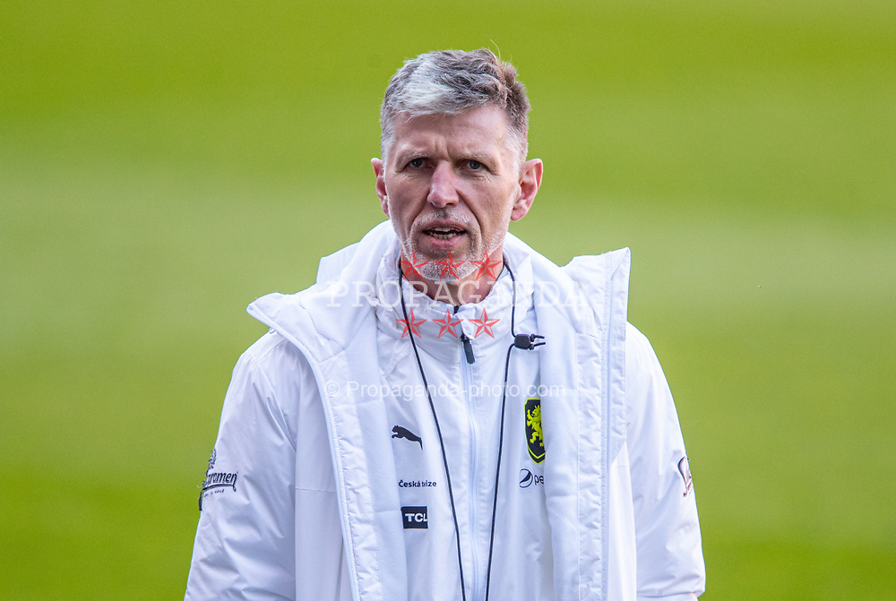 CARDIFF, WALES - Monday, March 29, 2021: Czech Republic's head coach Jaroslav Šilhavý during a training session at the Cardiff City Stadium ahead of the FIFA World Cup Qatar 2022 Qualifying Group E game against Wales. (Pic by David Rawcliffe/Propaganda)