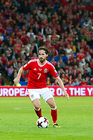 Football - 2018 World Cup - Qualifying 2016 / 2017 - Group D: Wales vs Moldova<br /> <br /> Joe Allen attacks     …  at the Cardiff City Stadium<br /> <br /> pic colorsport/winston bynorth