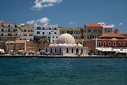 Mosque Turned Art Gallery and Surrounding Harborside Buidings, Chania, Crete, Greece