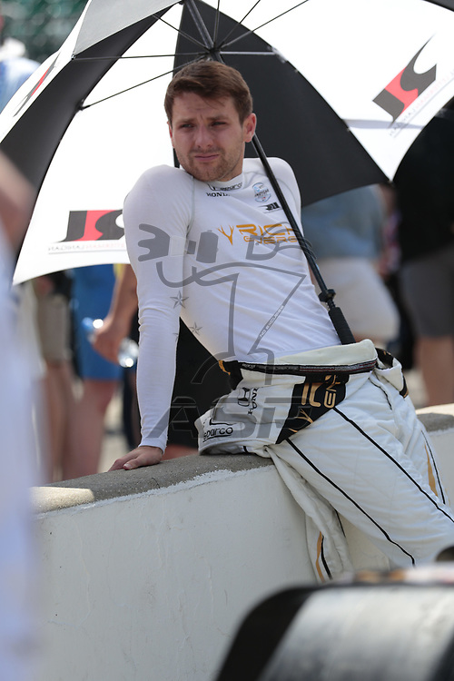 JORDAN KING (R) (42) of England prepares to qualify for the Indianapolis 500 at Indianapolis Motor Speedway in Indianapolis, Indiana.