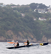 St Peter's Port, Guernsey, CHANNEL ISLANDS,   Bellot & Luzon, pushing through the rough water on the return leg of the 2006 British and International Coastal Rowing  Rowing Challenge, Ladies Classes, 02/09/2006.  Photo  Peter Spurrier, © Intersport Images,  Tel +44 [0] 7973 819 551,  email images@intersport-images.com