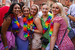 © Licensed to London News Pictures. 29/08/2021.Manchester, UK. Revellers make the most of the bank holiday weekend in Manchester. Photo credit: Ioannis Alexopoulos/LNP
