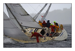 Yachting- The second start of the Bell Lawrie Scottish series 2002 at Inverkip racing to Tarbert Loch Fyne where racing continues over the weekend.<br /><br />Catalina K4449 in the Sigma 33 class.<br /><br />Pics Marc Turner / PFM
