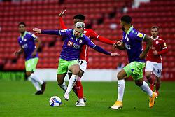 Andreas Weimann of Bristol City takes on Romal Palmer of Barnsley - Mandatory by-line: Robbie Stephenson/JMP - 17/10/2020 - FOOTBALL - Oakwell Stadium - Barnsley, England - Barnsley v Bristol City - Sky Bet Championship
