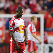 HARRISON, NEW JERSEY- November 06:  Bradley Wright-Phillips #99 of New York Red Bulls reacts during his sides loss in the New York Red Bulls Vs Montreal Impact MLS playoff match at Red Bull Arena, Harrison, New Jersey on November 06, 2016 in Harrison, New Jersey. (Photo by Tim Clayton/Corbis via Getty Images)