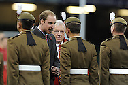 Prince William, HRH Duke of Cambridge was present at match and took part in post match presentations. Autumn International rugby, 2013 Dove men series, Wales v South Africa at the Millennium Stadium in Cardiff,  South Wales on Saturday 9th November 2013. pic by Andrew Orchard, Andrew Orchard sports photography,
