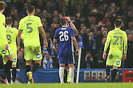 John Terry, the Chelsea captain is sent off by Referee Kevin Friend. The Emirates FA cup, 3rd round match, Chelsea v Peterborough Utd at Stamford Bridge in London on Sunday 8th January 2017.<br /> pic by John Patrick Fletcher, Andrew Orchard sports photography.