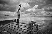 Brazil, Santana, rio Amazonas, Amapa.<br /> <br /> Santana, port a l'embouchure du fleuve, dessert les principales villes de l'Amazone et constitue un carrefour de l'immigration clandestine vers les chantiers auriferes de Guyane ou du Surinam.