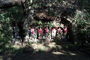 Jizo sculptures in Takatoriyama park Kanagawa Japan