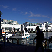 The Ferry Terminal at Auckland Harbour, showing the Hilton Hotel in the background. Auckland, New Zealand, 2nd November 2010. Photo Tim Clayton.