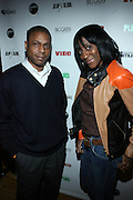 l to r: Louren Bates and Carla Radford at The Vibe Magazine VIP Celebration for Vibe's December cover featuring the first New York show of Plies, held at The Knitting Factory on November 24, 2008 in NYC