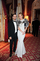 KINDER AGGUGINI and the MARCHIONESS OF BUTE at a dinner hosted by HRH Prince Robert of Luxembourg in celebration of the 75th anniversary of the acquisition of Chateau Haut-Brion by his great-grandfather Clarence Dillon held at Lancaster House, London on 10th June 2010.