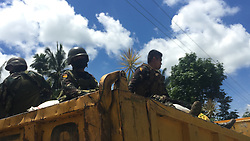 June 28, 2017 - Marawi City, Philippines - 17 cadavers of civilians, who were 'allegedly' brutally murdered by ASG/Maute group in Brgy. Gadungan, Marawi City were retrieved by government troops and rescuers on June 28, 2017. Bodies were brought to Capin Funeral Parlor for further identification. Investigators had found out later that one of the bodies retrieved was holding a handmade grenade. (Credit Image: © Sherbien Dacalanio/Pacific Press via ZUMA Wire)