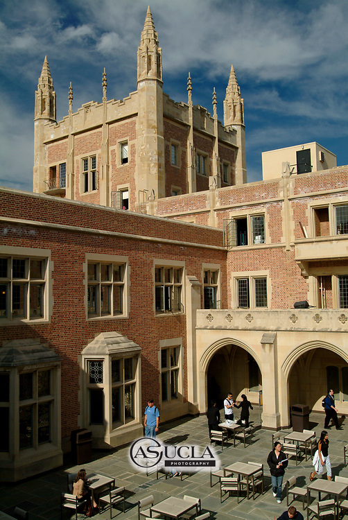 ASUCLA Photography Archive -  Exterior image of UCLA Kerckhoff Hall, UCLA Campus. University of California Los Angeles, Westwood, California.<br /> Also know as William G. Kerckhoff Hall, it is the home of the Associated Students of UCLA.<br /> <br /> Copyright: ASUCLA