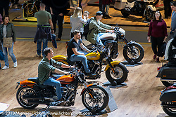 The Harley-Davidson display at the Swiss-Moto Customizing and Tuning Show. Zurich, Switzerland. Sunday, February 24, 2019. Photography ©2019 Michael Lichter.