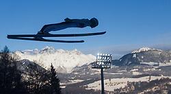 06.01.2015, Paul Ausserleitner Schanze, Bischofshofen, AUT, FIS Ski Sprung Weltcup, 63. Vierschanzentournee, Probedurchgang, im Bild Peter Prevc (SLO) // Peter Prevc of Slovenia during Trial Jump of 63rd Four Hills Tournament of FIS Ski Jumping World Cup at the Paul Ausserleitner Schanze, Bischofshofen, Austria on 2015/01/06. EXPA Pictures © 2015, PhotoCredit: EXPA/ JFK