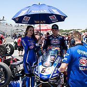 Jun 23  2018  Monterey, CA, U.S.A # 60 Michael van der Mark on the grid  during the Motul FIM World Superbike Race # 1 at Weathertech Raceway Laguna Seca  Monterey, CA  Thurman James / CSM