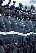 An honor guard during President Carters visit to Lagos Nigeria on April 1, 1978<br /> Photo by Dennis Brack