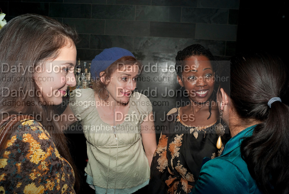 SOPHIE THOMPSON; LORNA BROWN; SARAH GOLDBERG;   Clybourne Park Press night. Opened at Wyndham's Theatre. Party afterwards at Mint Leaf, Haymarket, London. 8 February 2011.  -DO NOT ARCHIVE-© Copyright Photograph by Dafydd Jones. 248 Clapham Rd. London SW9 0PZ. Tel 0207 820 0771. www.dafjones.com.