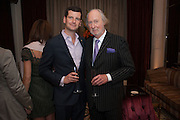 LUKE PARKER BOWLES; ED VICTOR, Juliet Nicolson - book launch party for  her latest novel Abdication, about British society after the death of George V.  The Gallery at The Westbury, 37 Conduit Street, Mayfair, London, 12 June 2012