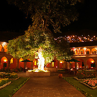 """South America, Peru, Cusco. The Hotel Monasterio in Cusco, voted """"Top 100 World's Best' by Travel & Leisure magazine."""