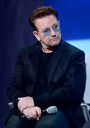Bono at the annual meeting of the Clinton Global Initiative (CGI) in New York City, NY, USA, on Monday, September 19, 2016. The annual CGI meetings bring together heads of state, leading CEOs, philanthropists, and members of the media to facilitate discussion and forward-thinking initiatives that challenge the way we impact the future. Photo by Dennis van Tine/ABACAPRESS.COM