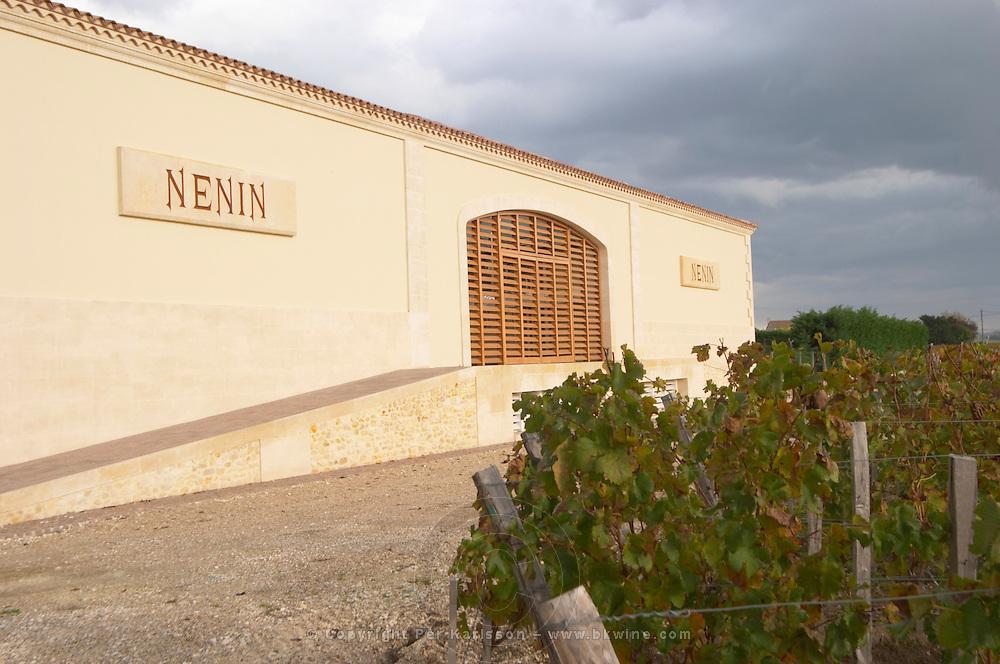 Winery building. Chateau Nenin, Pomerol, Bordeaux, France
