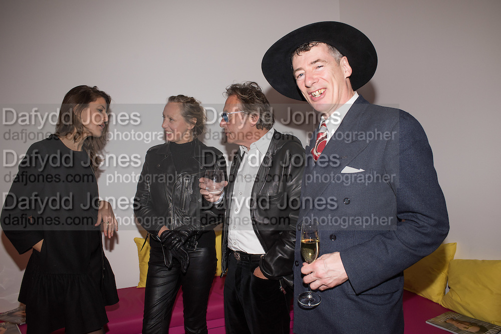 PAULINE AMOS; TIM SPICER; GAZ MAYALL;  Serpentine Gallery and Harrods host the Future Contempories Party 2016. Serpentine Sackler Gallery. London. 20 February 2016