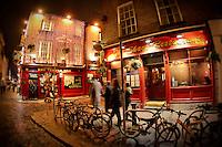 The Temple Bar and The Shack Restaurant in Dublin, Ireland