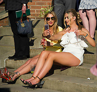 National Hunt Horse Racing - 2017 Randox Grand National Festival - Saturday, Day Three [Grand National Day]<br /> <br /> Female racegoers in summer dresses after  the 5.15, the Randox Health Grand National  at Aintree Racecourse.<br /> <br /> COLORSPORT/WINSTON BYNORTH<br /> <br /> <br /> <br /> <br /> <br /> <br /> <br /> <br /> <br /> <br /> National Hunt Horse Racing - 2017 Randox Grand National Festival - Saturday, Day Three [Grand National Day]<br /> <br />  in the 1st race the 1.45 Gaskells Handicap Hurdle at Aintree Racecourse.<br /> <br /> COLORSPORT/WINSTON BYNORTH