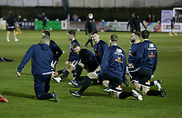 Football - 2020 / 2021 Emirates FA Cup - Round Four: Chorley vs. Wolverhampton Wanderers<br /> <br /> The Chorley squad warms up before the kick off, at Victory Park.<br /> <br /> COLORSPORT/ALAN MARTIN