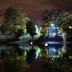 Sefton Park at night.
