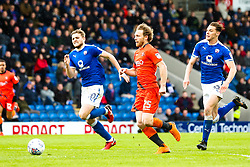 Craig Mackail-Smith of Wycombe Wanderers goes past Sid Nelson and Laurence Maguire of Chesterfield - Mandatory by-line: Robbie Stephenson/JMP - 28/04/2018 - FOOTBALL - Proact Stadium - Chesterfield, England - Chesterfield v Wycombe Wanderers - Sky Bet League Two