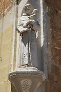 Historic religious statue Franciscan Church of St Mary of Jesus, Valletta, Malta