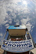 Marathon, GREECE, Start Tower at the FISA European Rowing Championships.  Lake Schinias Rowing Course, FRI 19.09.2008  [Mandatory Credit Peter Spurrier/ Intersport Images] , Rowing Course; Lake Schinias Olympic Rowing Course. GREECE