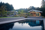 Views of the swimming pool and the yoga pavilion which was designed by architect Michael McCulloch