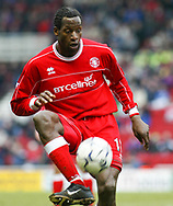 Uo Ehiogu of Middlesbrough in action Middlesbrough v Leicester City - Cellnet Stadium, Middlesbrough. Picture date: 2nd March 2002<br /> Picture Credit should read Martyn Harrison/Sportimage