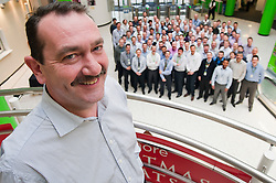 Grocery Director Ade McKeon the driving force behind Movember at Asda House Leeds, and the colleagues he persuaded to take part. The aim of Movember is to raise funds and awareness for men's health, especially cancers that affect men...28 November 2011  Image © Paul David Drabble