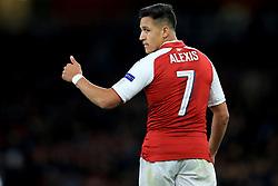 14 September 2017 -  UEFA Europa League (Group H) - Arsenal v FC Koln - Alexis Sanchez of Arsenal gives a thumbs up - Photo: Marc Atkins/Offside