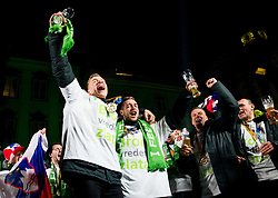 Jan Grebenc, Gasper Marguc during reception of Slovenian National Handball Men team after they placed third at IHF World Handball Championship France 2017, on January 30, 2017 in Mestni trg, Ljubljana centre, Slovenia. Photo by Vid Ponikvar / Sportida
