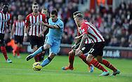 Sergio Aguero of Manchester City<br /> - Barclays Premier League - Southampton vs Manchester City - St Mary's Stadium - Southampton - England - 30th November 2014 - Pic Robin Parker/Sportimage