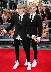 Jedward  arriving for the premiere of Keith Lemon The Film in London, Monday, 20th August 2012. Photo by: Stephen Lock / i-Images
