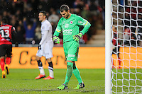 Deception Remy VERCOUTRE - 03.12.2014 - Guingamp / Caen - 16eme journee de Ligue 1 <br />Photo : Vincent Michel / Icon Sport