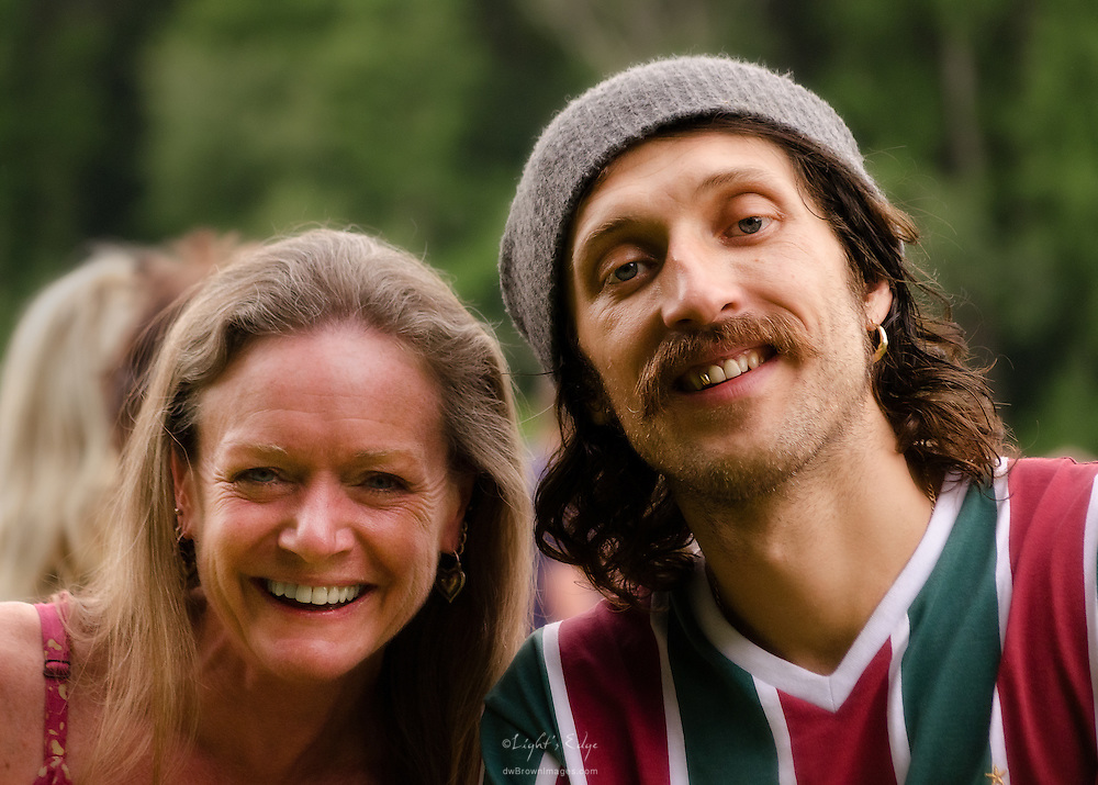 Eugene Hütz takes time to pose with fans following his performance in Gogol Bordello at The Appel Farm's Arts & Music Festival of 2011.