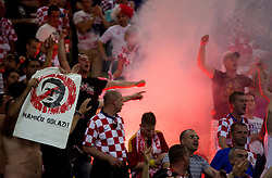 Fans of Croatia during the UEFA EURO 2012 group C match between  Croatia and Spain at PGE Arena Gdansk on June 18, 2012 in Gdansk / Danzig, Poland. Spain defeated Croatia and qualified to Quarterfinals. (Photo by Vid Ponikvar / Sportida.com)